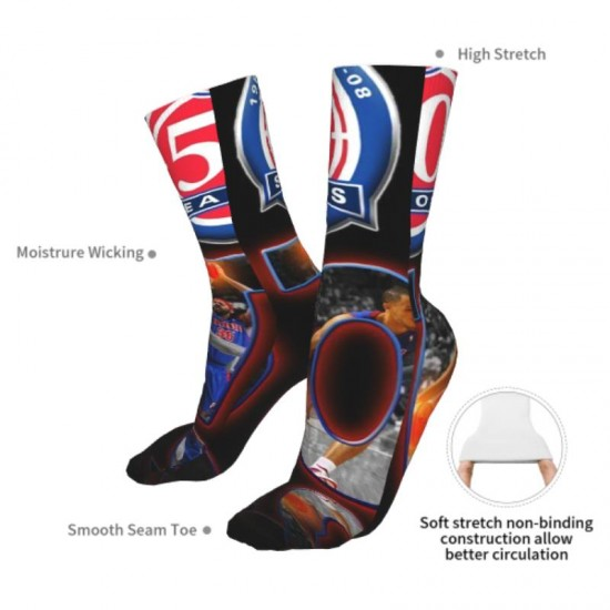 1 Pairs of Mens and Women Detroit Pistons sockings #293149 Pack Warm Winter