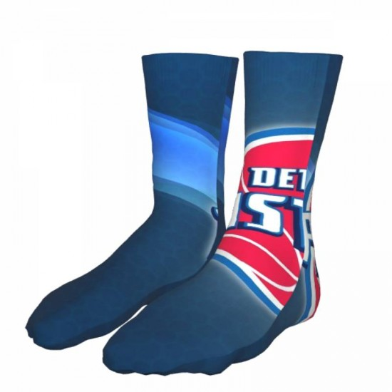 1 Pairs of Mens and Women NBA Detroit Pistons sockings #293367 Pack Warm Winter