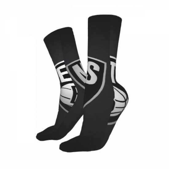 Unisex NBA Brooklyn Nets sockings #300546 for Crew For Cold Weather